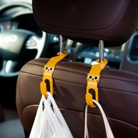 Atacado- 2Pcs Cartoon Car Back Seat Headrest Holder Holder ganchos para bolsa bolsa de tecido Grocer Auto Fastener Car Back Seat Clip Clasp