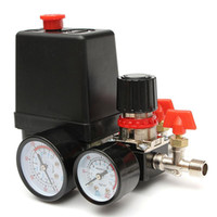 Wholesale Valve Regulators - 125PSI Air Compressor Pressure Valve Switch Manifold Relief Regulator Gauges 240V 16 x 10.5 x 13cm Popular