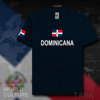 Wholesale Nations Red - Dominican Republic Dominicana DOM men t shirt fashion 2017 jersey nation team cotton t-shirt gyms clothing tees country Dominica