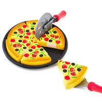 Barato Brinquedos Para Crianças-6 PCS Baby Kids Pizza Party Fast Food Cooking Cutting Pretend Play Set Gift Toy ITS