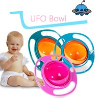 Wholesale Cute Baby Feeding - Baby Feeding Cutlery Cute Toy Baby Dinnerware Gyro Bowl Universal 360 Rotate Spill-Proof Dishes Children's Baby Tableware