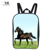 Wholesale Cool Backpacks For Boys - Wholesale- 2016 Popular 12-Inch Cool Printing Horse Baby Boy Animal Backpack Children Girls School Bags for Kids Bookbag for Student Bag
