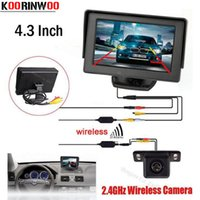 "Wholesale Wireless Reverse Parking System - KOORINWOO Hot sale Wireless Car 4.3"" TFT LCD vehicle SCREEN Monitor Display CCD Mini Reversing back up Rearview camera Parking System"