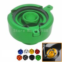 Wholesale green engines - Motorcycle CNC Aluminum Engine Green Oil Filter Cup Plug Cover For Kawasaki Z800 Z1000  SX VN650 ER6N ER6F ER4F For Tmax 500 530