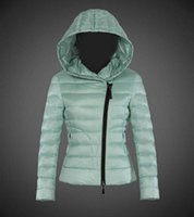 Wholesale Rib Mountain - Fashion hooded down jacket Exclusive latest green Down coat Mountain ski clothes Star preferred Female Light overcoat