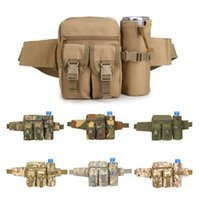 Wholesale Military Water Kettle - Sports Waterproof Camo Travel Water Bottle Bags Kettle Pockets CS Military Tactics Outdoor Small Molle Pouches