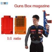 Wholesale Magazine Toys - EFHH Soft Bullet Clip Gun Toy Bullet Magazine Cartridge Dart Ammo Clips Compatible Toy Gun Gift