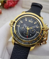 Wholesale Watch Die - 2017 INVICTA NEW luxury large dial men's quartz sports watch new 5 color calendar watches, large inventory DZ big bang Die @sel