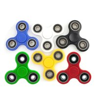 Wholesale Gags For Sale - Factory Sale Triangle Plastic Fidget Spinner Hand Spinners EDC Decompression Toy Novelty & Gag Toys For Kids Adults With Retail Box 6 Colors