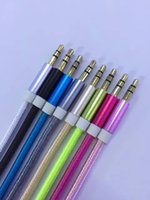 Wholesale pure iphone resale online - Pure Color Aluminum Metal Adapter Nylon Braided Cord mm Stereo Audio AUX Cable M FT