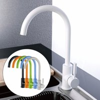 Wholesale White Bathroom Taps - Wholesale- Antique Kitchen Basin Faucets Black White Green Orange Blue Beige Colorful Solid Brass Bathroom Sink Faucet Water Mixer Taps