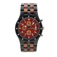 multi 3d оптовых-2017 Wood Watch Новые мужские наручные часы с функцией 3D и световой функцией Relogio Masculinor 109D