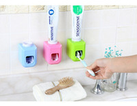 Wholesale Touch Free Wall Dispenser - Automatic Toothpaste Dispenser Squeezer Wall Mount New Touch Automatic Auto Squeezer Toothpaste Dispenser Hands Free Squeeze Out toothbrush