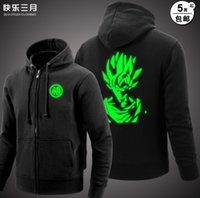 Wholesale Dragonball Z Cosplay - Wholesale-Dragon Ball Son Goku hoodie DragonBall Z DBZ Cosplay Costume cotton Noctilucent jacket coat God coat