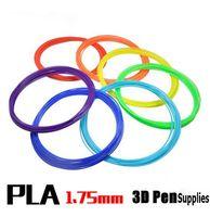 Wholesale 3d Printers Wholesale - 20rolls lot 10M 3D Printer PLA Filament Supplies 1.75mm For 3D Pen DIY Printing Pen