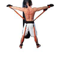 Wholesale Resistance Fitness Equipment - New Resistance Bands Fitness Crossfit Equipment Explosive Kicking Box Force Training Belt 130LB 140LB 150LB 200LB 240LB 20#
