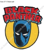 Iron-on black panther costumes - 3 quot X Men Beast Marvel Comics Avenger Black Panther patches Superhero Movie TV Series Costume Embroidered applique iron on