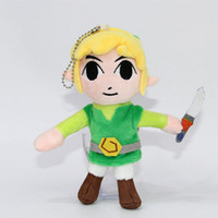 "Wholesale Collectible Movie Swords - Top New 6"" 15CM The Legend of Zelda Plush Doll Skyward Sword Waker Link Stuffed Dolls Keychains Pendants Soft Party Gifts Toys"