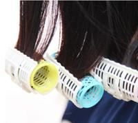 rodillos de pelo de peluquería al por mayor-3 Unids / set Rizador de Pelo de Plástico Roller Grip Styling Roller Curlers Peluquería Herramientas de BRICOLAJE Styling Home Use Hair Rollers