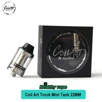 Wholesale E Liquid Drip Tip - Original COILART TORUK MINI TANK 22mm 2.0mL Liquid Capacity Vape Tank 510 drip tip E Cig