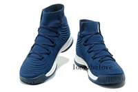"Wholesale Genuine Leather Boots Usa - Navy Blue Crazy Explosive 2017 Primeknit ""Trace Khaki"" Basketball Shoes Crazy Explosive 2017 PK Hiking Boots sneakers USA size 40-46"