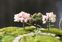 ingrosso miniature garden-Variation Christmas Xmas Tree Mini Tree Plant Junly Moss Gnome Miniature Fairy Garden Home Prato Terrarium Moss Pot Resina artigianato Jardin Decor