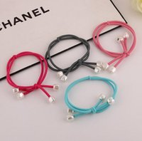 Wholesale Fresh Lotus Wholesale - Hot sale Bow hair knot head rope small fresh lotus pendant hair head hair ornaments FQ007 mix order 100 pieces a lot