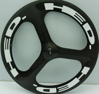 Wholesale Tri Spoke Fixed Gear Wheel - 2017 Top Quality 700c Tri Spoke Carbon Wheel 70mm Carbon Tubular Bike Wheelsets 3 Spokes Bicycle Carbon Tri Spoke Fixed Gear Cycling Parts