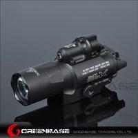Wholesale Led Lens Lumen - Weatherproof X400U Series 350 lumen LED Light 20 mm Weaver rail Type Emitter w  red laser sight TIR Lens Mark Version NGA0912