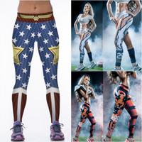 Wholesale Womens Christmas Pants - 30pcs 2016 Christmas Womens Fashion 3D Print Legging High Waist Fitness Pants Stretch Leggings for Women Sport Yoga Workout Tight Trousers