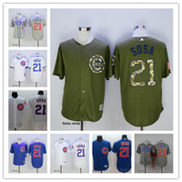 Wholesale Style Elite - Top Quality 2017 Chicago Cubs #21 Sammy Sosa Baseball Jerseys Champions Gold Elite 15 Style MLB Jerseys M-3XL