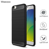 Wholesale Oppo Black - Case For oppo r9 f1 r9s plus a37 a39 a59 f1s Case Armor Carbon Fiber Soft TPU Drawing protection Phone back cover capa