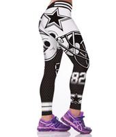 edificio de impresión al por mayor-Venta al por mayor- Negro Leggings blancos para mujeres Sporting 3D Máquina impresa Pantalones activos Culturismo Jeggings Gimnasio Legins Cintura alta Leggins