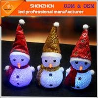 Wholesale Nightlight Toys - Christmas Santa Claus Christmas Snowman LED light luminous toy rice colorful Nightlight christmas lights Xms gift