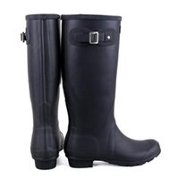 Wholesale Silver Hunter Boots - 2017 Hunter Tall Boots Women Wellies Rainboots Ms. Glossy Wellington Rain Knee Waterproof Water Proofing Matte Shoes Wellington high boots
