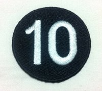 Wholesale Iron Number Patches - Wholesales~10 Pieces Punk Patch Number 10 Ball (7 cm x 7 cm) Embroidered Applique Iron on Patch (B)