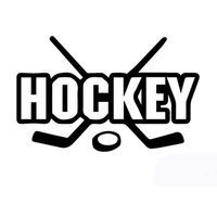 Wholesale Wholesale Outdoor Vinyl - Wholesale 10pcs lot Hockey Sticks Puck Outdoor Sports Enthusiasts Car Sticker for Motorhome Wall Door Laptop Canoe Car Styling Vinyl Decal