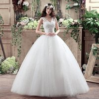 Wholesale Cheap Sexy V Strings - In 2017, the cheap new women's slim, slim Italian wedding dress dress with a string of unbacked floral applique beads