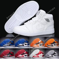 Wholesale Basketball Backboards - with box Wholesale 2017 retro 1 Banned Chicago Mid hare man basketball shoes Shattered Backboard sports shoes size eur 40-47 free shipping