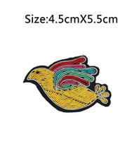 Wholesale Brooch Doves - 2017 New High quality 3D HAND EMBROIDERED Peace DOVE PIN Jewelry Patches Badge France BULLION WIRED BLAZER BROOCHES