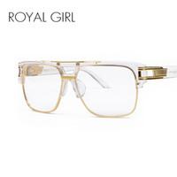 brillenfassungen für frauen großhandel-ROYA MÄDCHEN Luxus Frauen Marke Brillengestell Vintage Oversize Klare Linse Gläser Männer Brillen Rahmen Acetat Brille ss098