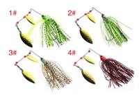 2017 Nuovo 4 PZ Metallo Artificiale Spinnerbaits di Attrezzatura Da Pesca 9 cm 17g Barba Guy Fishing Lure e Jig Heads Ganci per l'acqua salata
