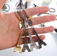 Wholesale Man Ring Jade Silver - Hot sale Eiffel Tower alloy keychain  metal key chain  Eiffel Tower key ring Metal Keychain France Efrance souvenir paris keyring keyfob cut