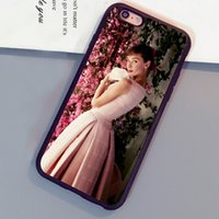 Wholesale Iphone 4s Case Audrey - Audrey Hepburn Rare Photograph Printed Soft TPU Rubber Skin Phone Cases For iPhone 6 6S Plus 7 7 Plus 5 5S 5C SE 4S Back Cover