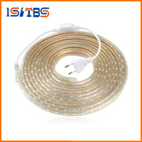 Barato Tiras Led 25m Ip65-Upgrad fio de cobre 220V SMD 5050 LED Strip Light 5m - 25M IP65 impermeável led fita de iluminação exterior Decor lamp + UE plug Adapter