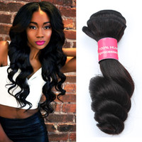 Wholesale Indian Hair Smooth - Gagaqueen Hair 8A Brazilian Hair Dyeable Virgin Human Hair Weaves Extensions Peruvian Malaysian Indian loose Wave 3 Bundles Soft And Smooth