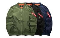 Wholesale Spring Military Jacket Men - Sponge mice Spring Ma1 Pilot Bomber Jacket Thin Military Army Flying Jacket Cool Flight Men Jacket Clothing
