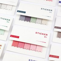 Wholesale Color Sticker Note - Wholesale- Water Color Self-adhesive Sticky Notes Memo Pads Bookmark Index Stickers