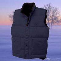Wholesale Men S Puffer Jacket - 2017 Men Down Puffer Vest Coat Down Parkas Winter Jacket Men down-jacket Parka Men Vests Waist Sleeveless coats