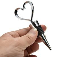 Wholesale Bottle Stopper Wedding Favors - Elegant Heart Shaped Wine Stopper ,bottle stopper Wedding Favors Brand New